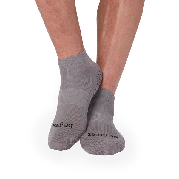 MENS Be Great Grip Socks (Steel/Black)