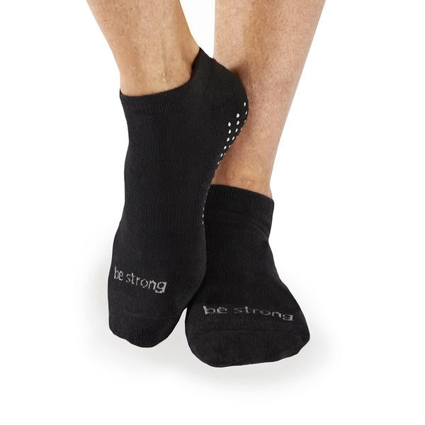 MENS Be Strong 13-17 Grip Socks (Black/Slate)