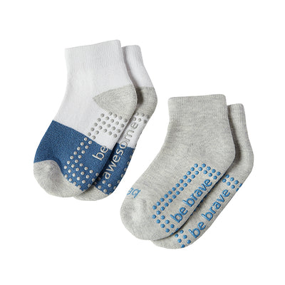Boy 2 Pack Grip Socks 2T-2T (Max)