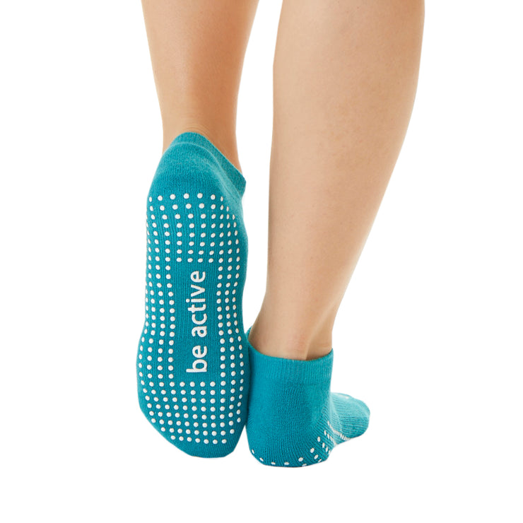 Be Active Grip Socks   (Aruba/White)