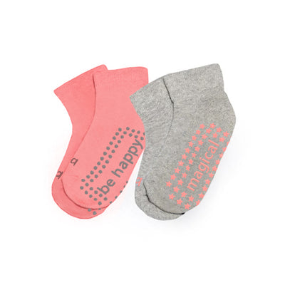 Toddler Girl Solid 2 Pack Grip Socks 2T-4T (TINSLEY)