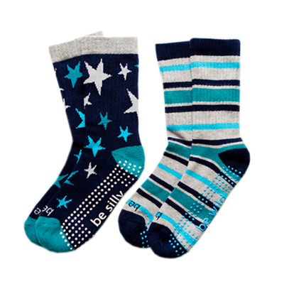 Boy 2 Pack Grip Socks 4T-6T (PARKER)