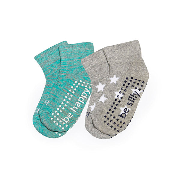 Toddler 2 Pack Grip Socks 2T-4T (DAKOTA)