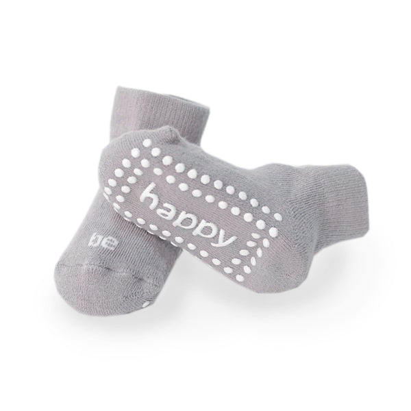 Be Happy Baby Socks (Grey)