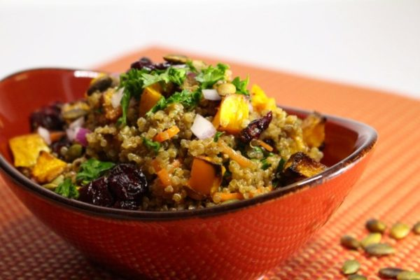 Roasted Winter Vegetable Quinoa (with Special Sauce!)