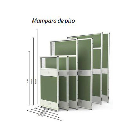 Mamparas de Piso I-WORK 160X75