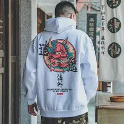 Hip Hop Japanese Harajuku Devil Hoodies - Men's style boutique