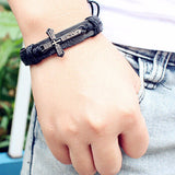 Fashion Mens Jewelry Vintage Leather Bracelet - Men's style boutique