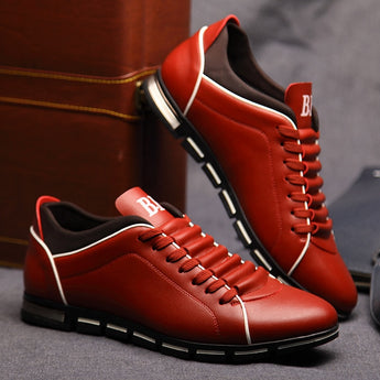 Men's Casual Flat Fashion Leather Shoes Big Size 38-48 - Men's style boutique