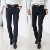 Classic Men's Casual Slim Straight Pants - Men's style boutique