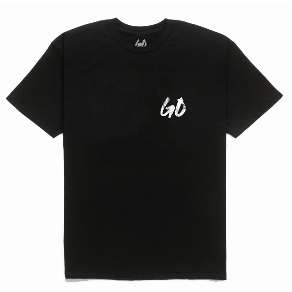 DISTRESSED LOGO TEE - BLK