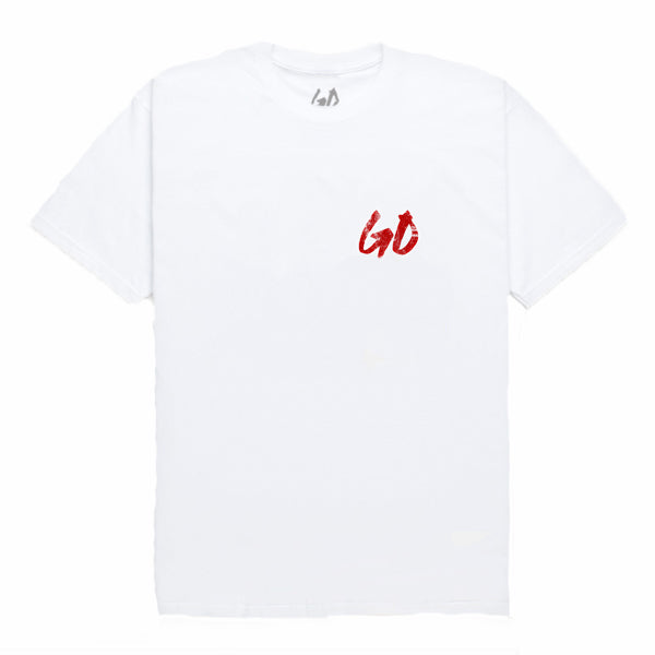 DISTRESSED LOGO TEE - WHT
