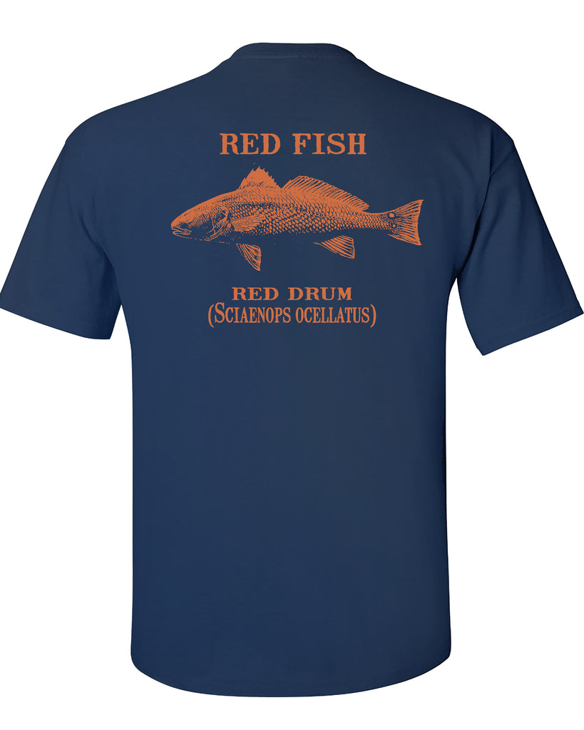 MBO Navy And Orange Red Fish