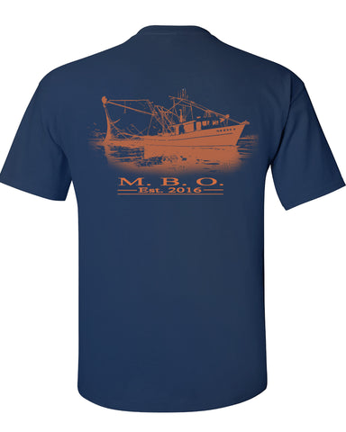 MBO Navy And Orange Shrimp boat