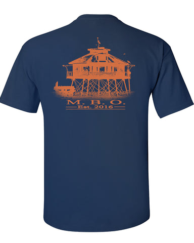 MBO Navy And Orange Sig Print