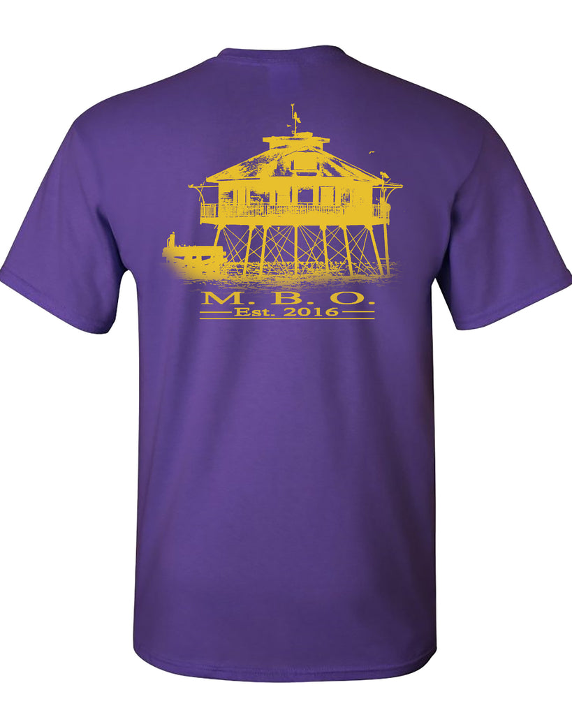 MBO Purple And Gold Signature Lighthouse