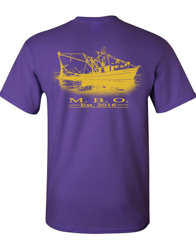 MBO Purple And Gold Shrimp Boat