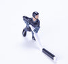 Rod Hockey Player (45mm short stick) with Steel Rod attachment, Blue and Grey