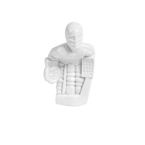 Rod Hockey Goalie with Plastic Rod attachment, White