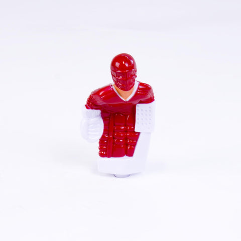 Rod Hockey Goalie with Plastic Rod attachment, Red and White