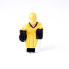 Rod Hockey Goalie with Plastic Rod attachment, Yellow and Black