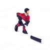Rod Hockey Player with Plastic Rod attachment, Red and Black