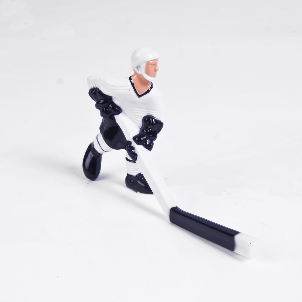Rod Hockey Player with Plastic Rod attachment, White and Black