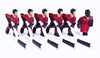 Full Team with Plastic Rod attachment, Red and Black - 6 players, no goalie