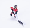 Rod Hockey Player (45mm short stick) with Steel Rod attachment, Red and Black