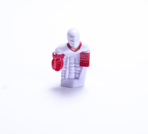 Rod Hockey Goalie with Plastic Rod attachment, White and Red