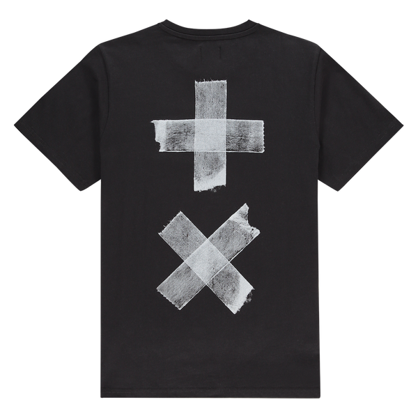 T-Shirt Taped Logo (Black/White)