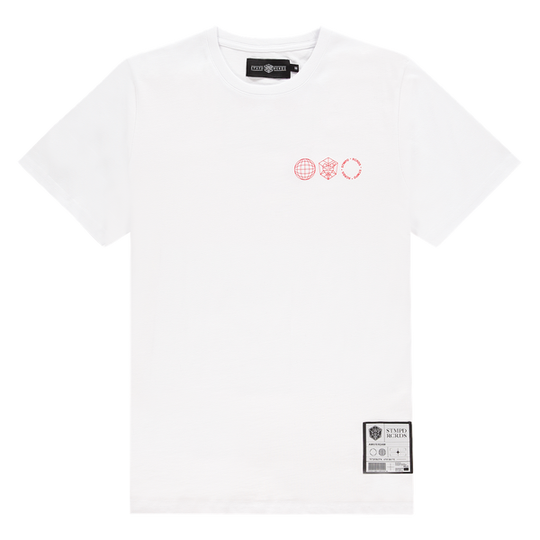 T-shirt STMPD Round White/Red