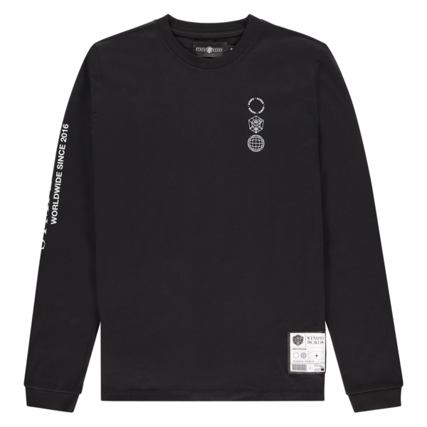 Long Sleeve STMPD Round Black/White