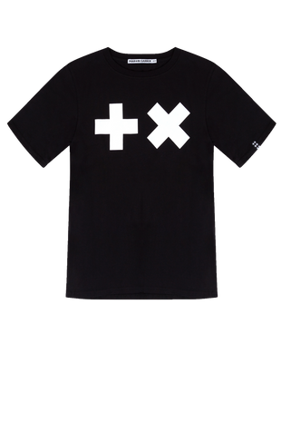 Boys - T-shirt Black/ White Logo