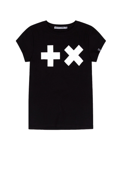 Girls - T-shirt Black/ White Logo