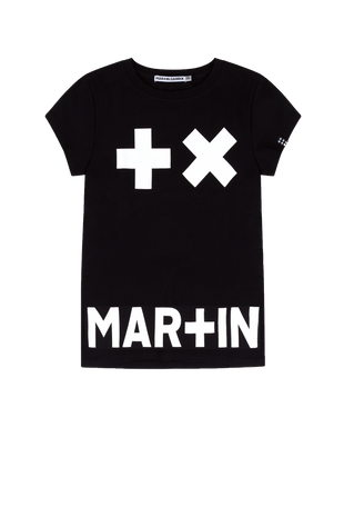 Girls - T-Shirt Black/ Logo Garrix Print