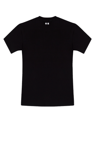 Long Destroyed (oversized) T-shirt Black