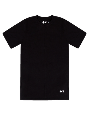 Long T-shirt Black (Front Seam)