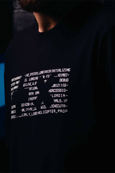T-shirt Black Glitch +x