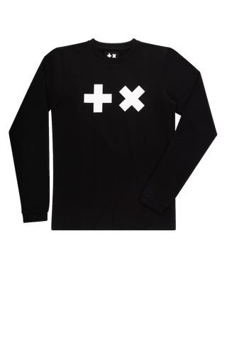 Long Sleeve T-shirt Black/White Logo