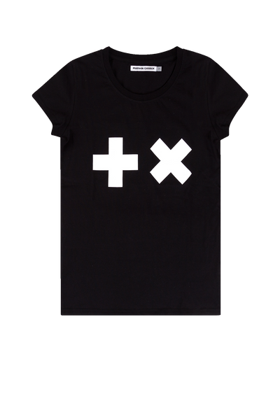 T-shirt Black/ White logo (Women)