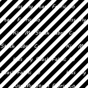 Black & White Diagonal Stripes