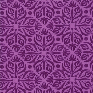 Plum Damask by Robin Pickens