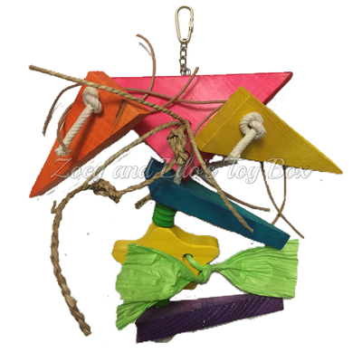 Triangular Chunky Pine Bird Toy