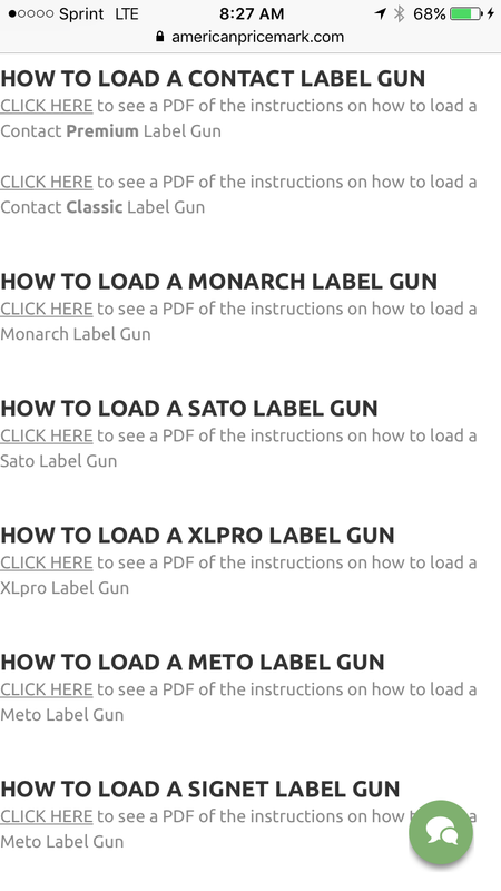 How to load a price tagging gun