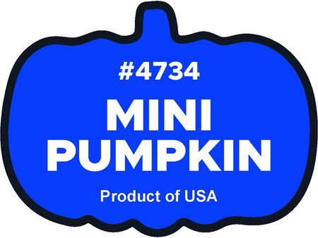 Mini Pumpkin 4734 plu labels