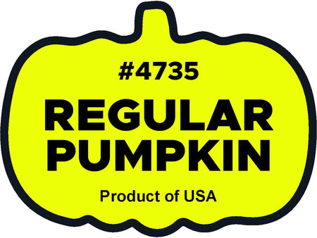Regular Pumpkin 4735 plu labels