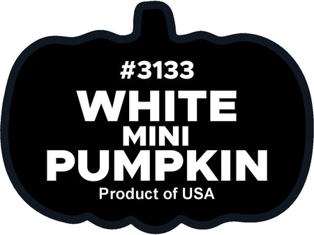 White mini pumpkin plu labels 3133