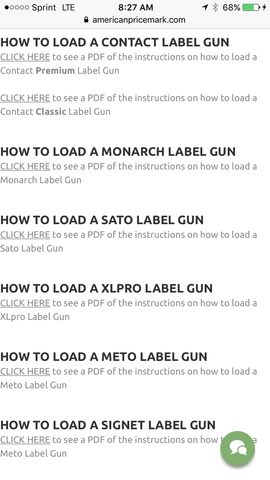 I'm a how to load price tagging guns