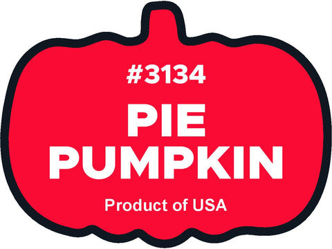 Pie Pumpkin 3134 plu label